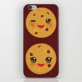 Kawaii Chocolate chip cookie iPhone Skin