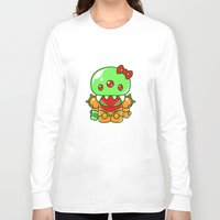 metroid Long Sleeve T-shirts featuring Hello Metroid by Marshu