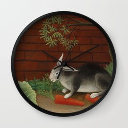 The Rabbits Meal (Le Repas du lapin) (1908) by Henri Rousseau Wall Clock