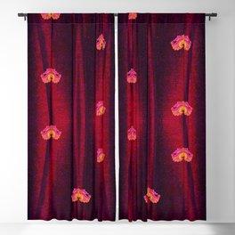 Lotus Red Blackout Curtain