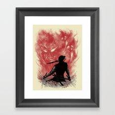 Ronin Versus Oni Framed Art Print