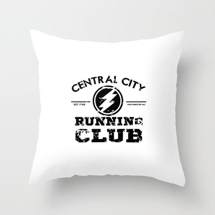 Running Club Throw Pillow