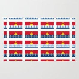 flag of kiribati - Gilbertese,I-Kiribati,Gilberts,Kingsmills,pacific,Tarawa Rug