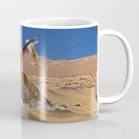 oasis Mugs featuring Oasis by Lerson