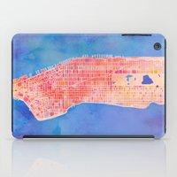 manhattan iPad Cases featuring Manhattan  by Marta Olga Klara