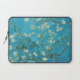 Vincent van Gogh Blossoming Almond Tree (Almond Blossoms) Light Blue Laptop Sleeve
