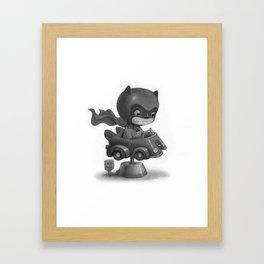 Lil Bat Man Framed Art Print