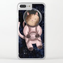 Astrocat Illustration Clear iPhone Case
