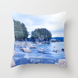 Spring Beach Photography Print Throw Pillow