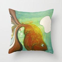 Heavy fish Throw Pillow