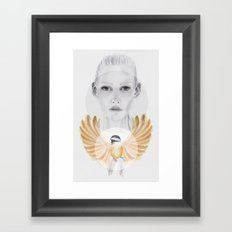 Little Brown Bird Framed Art Print