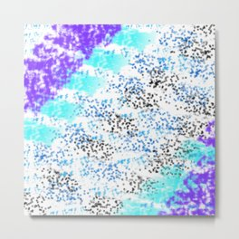 Sponge Print Blues/Purple/Black Metal Print