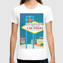 Las Vegas, Nevada - Skyline Illustration by Loose Petals T-shirt