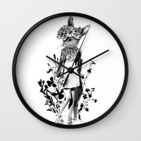 moose Wall Clocks featuring MOOSE by TOO MANY GRAPHIX