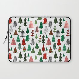 Christmas tree forest minimal scandi patterned holiday forest winter Laptop Sleeve