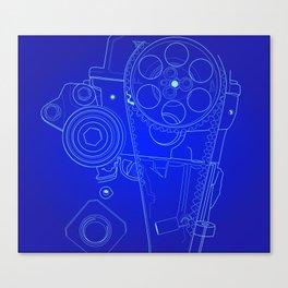 BluePrint: Gears Canvas Print