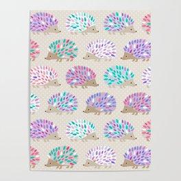 Hedgehog polkadot Poster