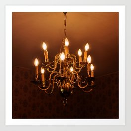 Glowing Chandelier Art Print