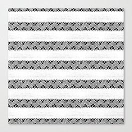 Stripes of antique rustic lace Canvas Print