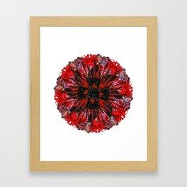 bloody mandala Framed Art Print
