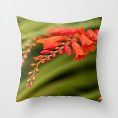 Blooming Reds Throw Pillow
