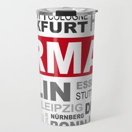 Germany top and most famous city names word cloud illustration Travel Mug