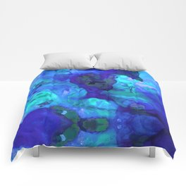 Violet Blue - Abstract Art By Sharon Cummings Comforters
