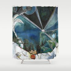 Exploration: Coral Shower Curtain