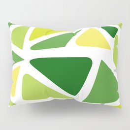 Green and yellow shapes Pillow Sham