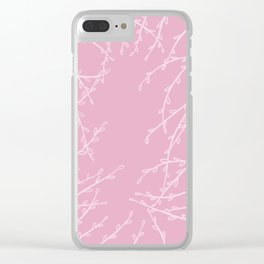 The Pink Leaves Clear iPhone Case