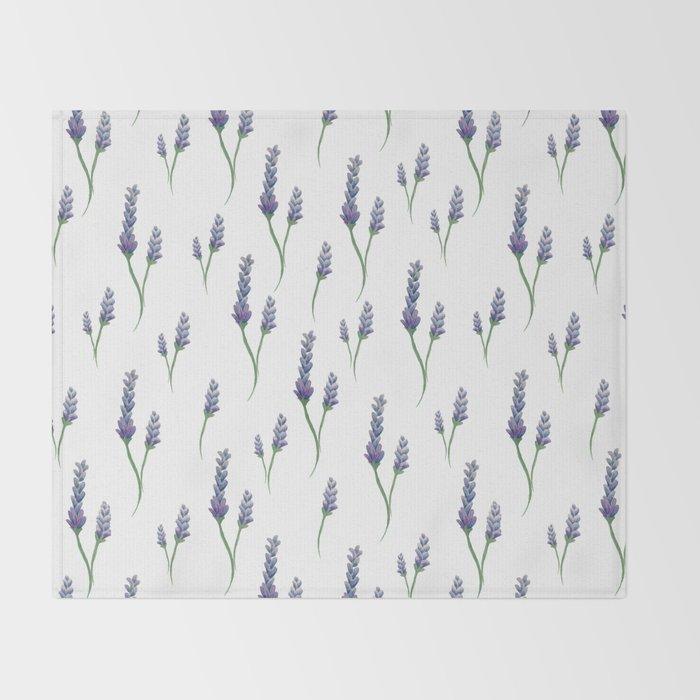 Lavender Sprigs Throw Blanket