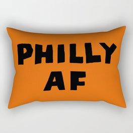 Philly AF (Orange) Rectangular Pillow