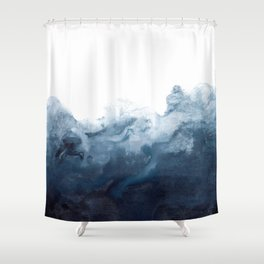Indigo Depths No. 2 Shower Curtain