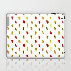 Olive and orange || watercolor brushstrokes Laptop & iPad Skin