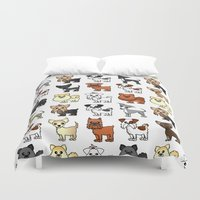 brussels Duvet Covers featuring Cute Toy Dog Breed Pattern by Cute to Boot