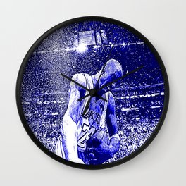 The King Of L.A. - Society6 Tribute To The Great K. 24 Bean Bryant - Basketball G.O.A.T. Art KIO Wall Clock