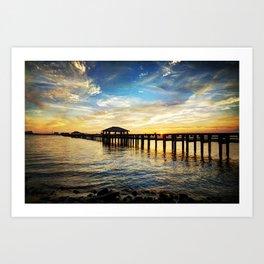 Biloxi Bay Sunset Art Print