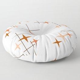 Mid Century Modern Stars Orange Floor Pillow
