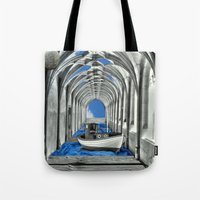 boat Tote Bags featuring Boat by infloence