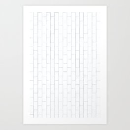 White Brick Art Print