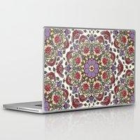 deco Laptop & iPad Skins featuring Deco Floral by Paula Belle Flores