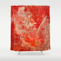 skateboard Shower Curtains featuring Extreme Skateboard by Fernando Vieira