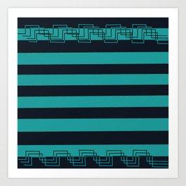 blue torquoise pattern Art Print