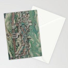 Vintage Map of Jerusalem, Nazareth and Rame Israel Stationery Cards