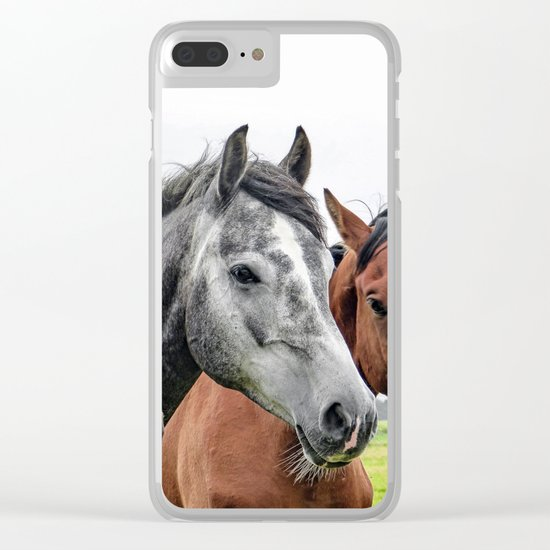 Wonderful Horses Clear iPhone Case