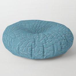 Leather Look Petal Pattern - Niagara Color Floor Pillow