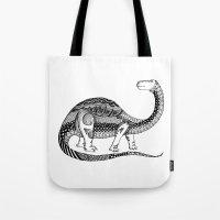 dinosaur Tote Bags featuring Dinosaur by Nicole Whelan