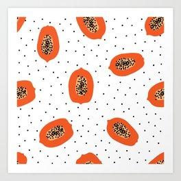 Papaya Art Print