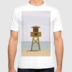 The beach Mens Fitted Tee White MEDIUM