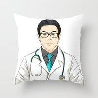 doctor Throw Pillows featuring Doctor by BusOne - Aldo Campilongo